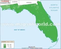 florida topo map topographic map
