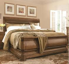 Solid Wood Sleigh Bed Louis Philippe Solid Wood King Sleigh Bed Cognac Zin Home