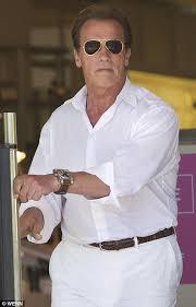 Arnold Schwarzenegger Halloween Costume Arnold Schwarzenegger Ditches Grey Bearded Biker Steps
