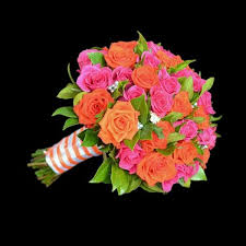 wedding flowers melbourne wedding flowers bridal bouquet bright orange hot pink roses in