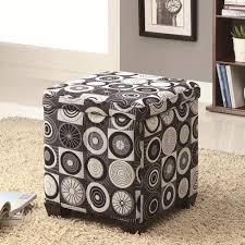 pattern fabric ottoman rotundity pattern storage ottoman ideal furnishings your