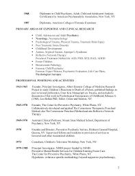 Psychiatrist Resume Cv Gilbert Kliman Mdcv 12 07 14