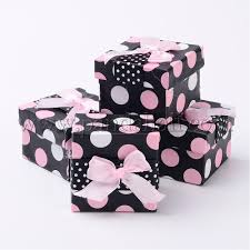 polka dot gift boxes wholesale valentines day cardboard jewelry gift boxes ring