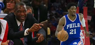 Mutombo Meme - dikembe mutombo on joel embiid that boy is crazy thepostgame com