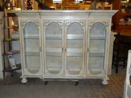 Curio Cabinet Makeover by The Top Part Of A Big Old Curio Would Be Very Cute With Bun Feet