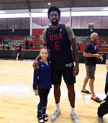 Deandre Jordan Meme - deandre jordan 6 11 of the team usa basketball team standing