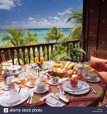 hotel veranda mauritius breakfast on a veranda at the royal palm hotel mauritius stock