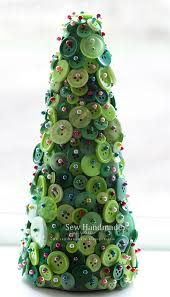 knitted christmas trees christmas lights decoration