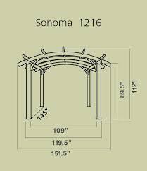 12x16 sonoma pergola kit sonoma1216 r outdoor greatroom