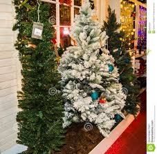 decorated christmas trees for sale stock photo image 48433351