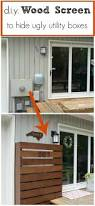 diy wood screen to hide utility boxes diy wood screens and wood