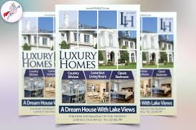 Real Estate Flyer Template Word by Luxury Homes Real Estate Flyer Flyer Templates Creative Market