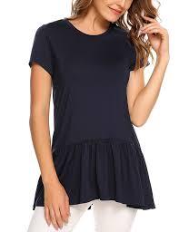 women swing tunic tops pleated hem causl tops blouse 70 off www