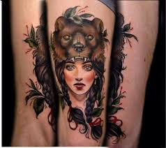 samantha tattoo on her neck i am in love with my new tattoo beautiful bearskin girl by samantha