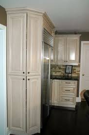 pantry cabinets around refrigerator this is such a great idea