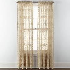 Jcpenney Lace Curtains Jcp Home Shari Lace Rod Pocket Sheer Panel