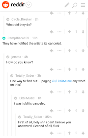 Seeking Cancelled Reddit Scheduled Artitst Reveals On Reddit That He Was Told Mysteryland