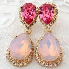 Pink Chandelier Earrings Shop Opal Chandelier Earrings On Wanelo