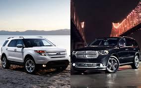 compare dodge durango 2011 ford explorer vs 2011 dodge durango comparison motor trend