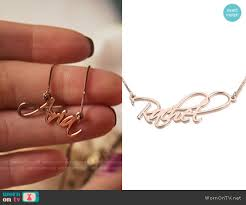 pretty liars earrings the liars name plate necklace on pretty liars