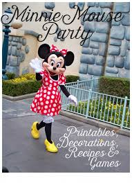 minnie mouse party ideas and free printables holidappy