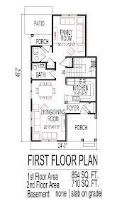 narrow house plans for narrow lots make this a one story house change family room into a bedroom