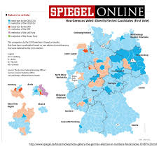 Map Election by Geographical Patterns In The German Federal Election Of 2013