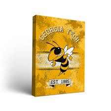 tech wall art georgia tech yellow jackets canvas wall art banner dorm room
