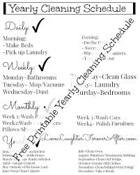 printable evening schedule free easy to use printable yearly cleaning schedule