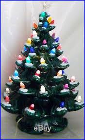 20 vtg green ceramic tree multi colored lights lighted