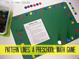 pattern lines a preschool math game