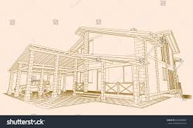 authors project residential building carport garage stock vector the author s project of a residential building with a carport a garage in the basement