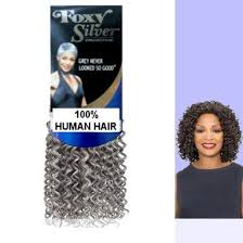 Salt N Pepper Human Hair Jerry Curl Weave Track Grey Color 51