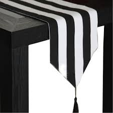black and white striped table runner promotion shop for