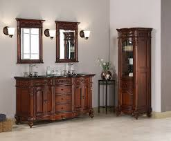 60 Bathroom Vanity Double Sink by Antique Warwick 60 Inch Cherry Double Sink Vanity