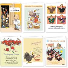 thanksgiving humorous stories amazon com thanksgiving card variety pack 18 funny