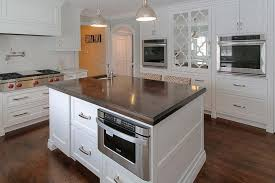 kitchen island with oven narrow kitchen island with built in microwave oven carts storage