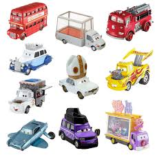 cars characters disney pixar cars 2 deluxe die cast movie character car bus