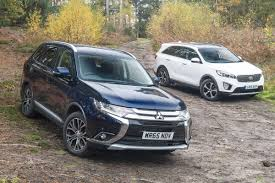 mitsubishi outlander off road mitsubishi outlander vs kia sorento review auto express
