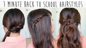 1 minute back to hairstyles for medium long hair tutorial