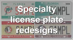 Florida Vanity Plate Cost New Florida Specialty License Plate Designs Released Orlando