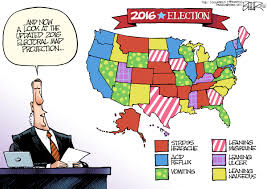2016 Senate Map Projections by Beeler Cartoon 2016 Voter Map