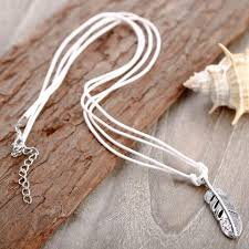 string necklace images String necklace feather pendant jpg