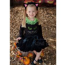 Halloween Costume Cat Ears Aliexpress Buy Halloween Black Pettiskirt Tutu Kitty Shirt