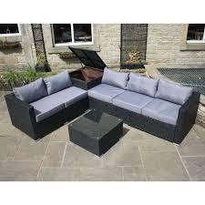 outdoor sofa with storage outdoor garden furniture corner sofa with storage box in black