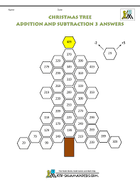 christmas math worksheet tree addition subtraction 3ans gif 1 000