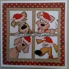 focus on papercraft crazy dog stamps a christmas card card
