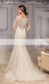 vestido de novia 2016 elegant scoop neck mermaid wedding dresses