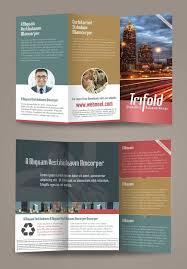 corporate trifold brochure design templates freedownload