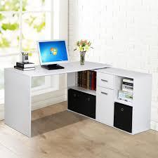 computer desk with shelves white adjustable corner computer desk w shelves drawer cupboard home